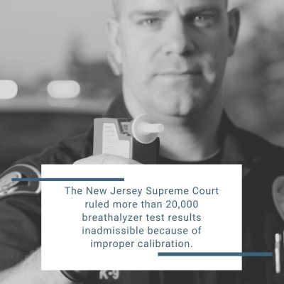 DWI breathalyzer test results